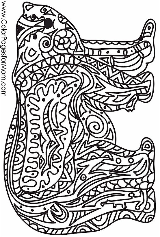 Animals 40 Advanced Coloring Page