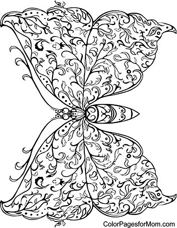 Butterfly Designs Artists Coloring Book : Butterfly Coloring Page 33