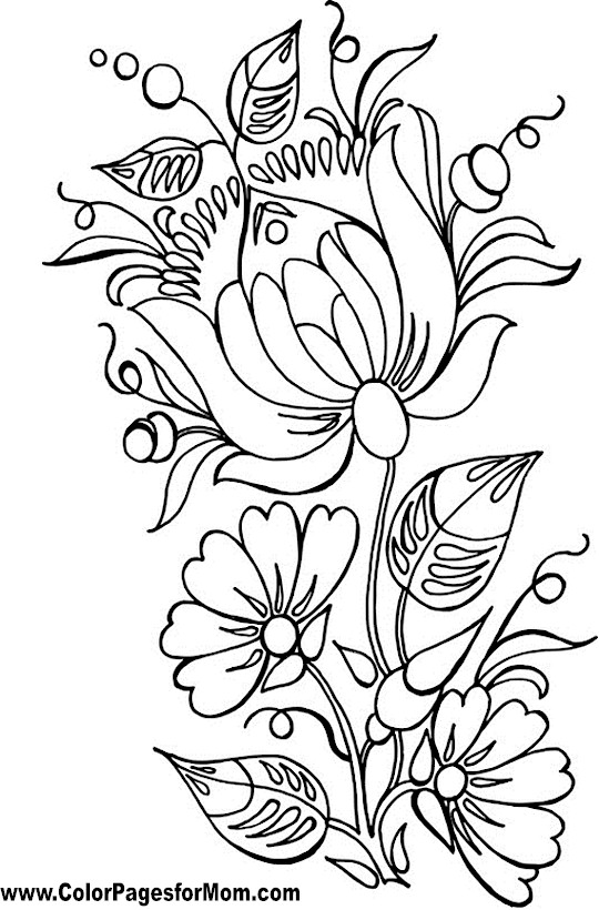 Advanced Coloring Pages - Flower Coloring Page 86