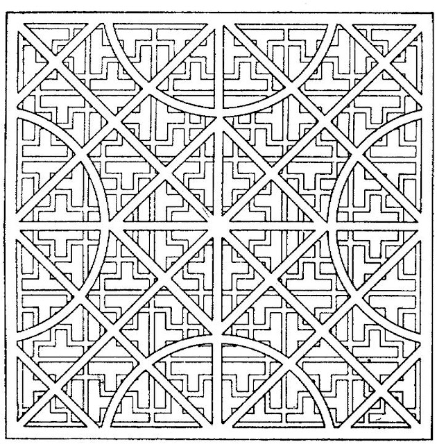 Geometric shapes cartoon coloring page Geometric coloring books for adults
