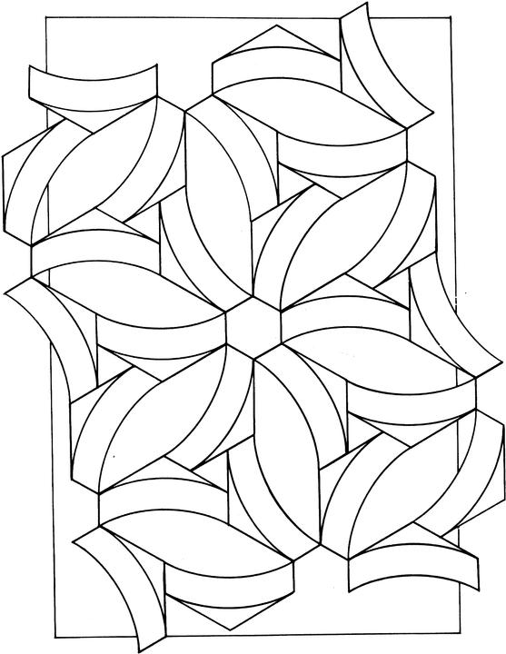 Geometric Shapes Coloring Page