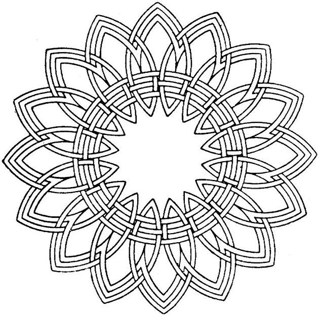 Geometric Shapes Cartoon Coloring