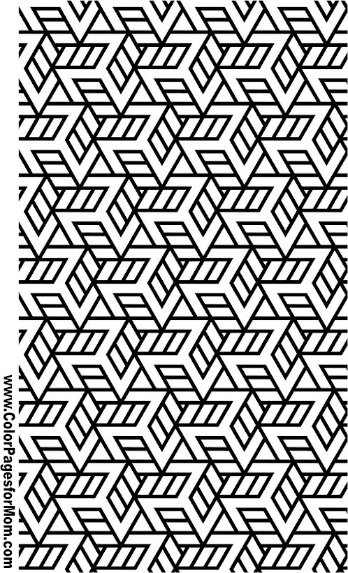 Geometric Shapes Coloring Page 96