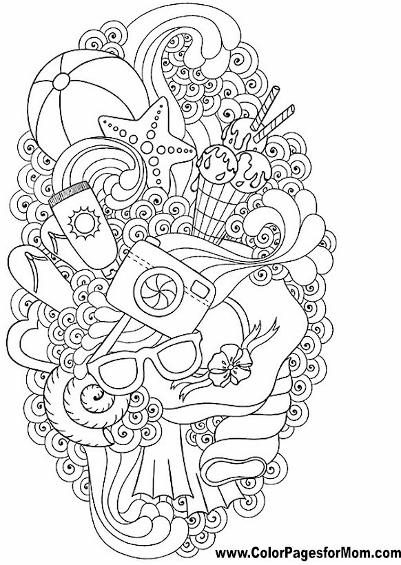 Vacation Coloring Page 51