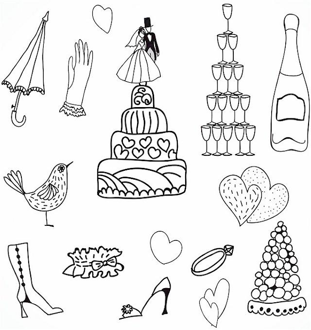 wedding coloring page 1