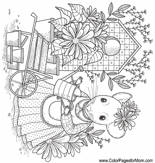 Whimsical Coloring Page 60