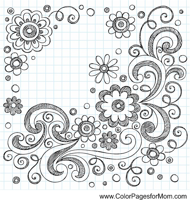 whimsical flower coloring pages - photo#26