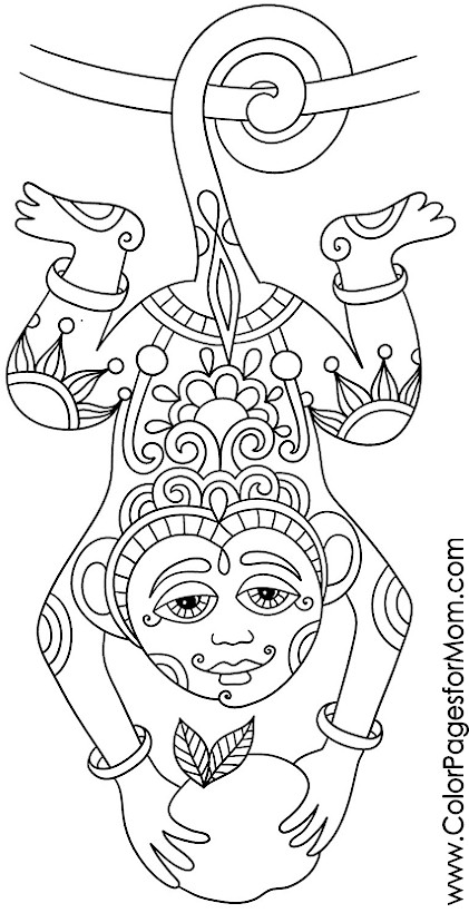 Animals 20 Advanced Coloring Page