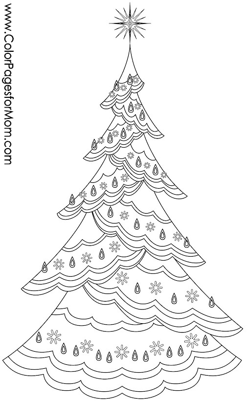 Christmas Coloring Page For Adults Christmas Tree