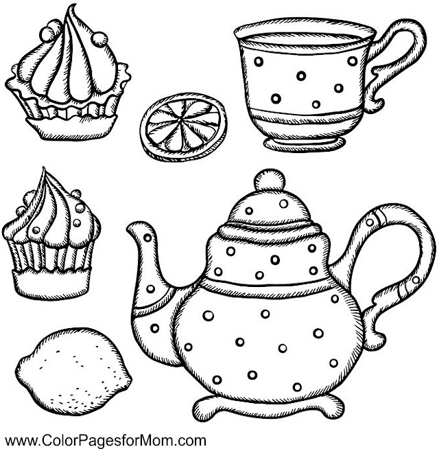 Coloring pages for adults - coffee coloring page 25