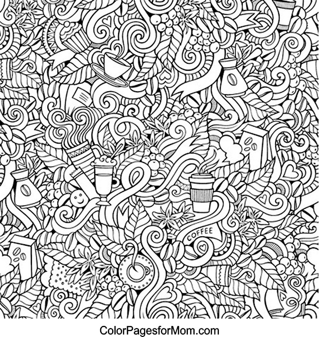 Doodles 15 Advanced Coloring Page
