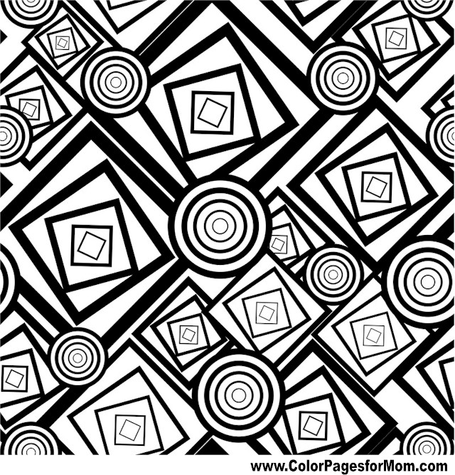 Geometric Shapes Coloring Page 98